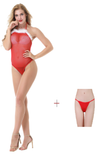 Buy ItspleaZure Women's Christmas Halter Feather Bodysuit  & Free Thong (Freesize_Q2MBS123_ARBT) for  at itspleaZure
