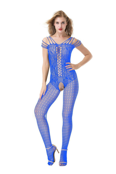 ItspleaZure  Women'sBlue Fishnet Body Stockings & Free Thong for  at itspleaZure