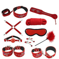 Buy ItspleaZure Designer 10 Piece Bondage Kit - Red for  at itspleaZure