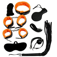 ItspleaZure Intermediate 8 Piece Bondage Kit Orange & Black at itspleaZure