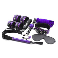 ItspleaZure Bondage Kit ItspleaZure Intermediate 8 Piece Bondage Kit Purple & Black