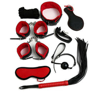 Buy ItspleaZure Intermediate 8 Piece Bondage Kit Red & Black for  at itspleaZure