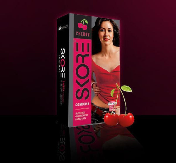 Skore Condom Cherry Flavoured Pack Of 10 for  at itspleaZure