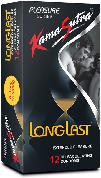 Kamasutra LongLast Pack Of 12 Condoms for  at itspleaZure