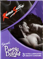 ItspleaZure Condom Kamasutra Smooth Purple Delight Pack Of 3