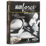 ManForce 3 in 1 Coffee Flavoured Pack of 3 Condoms for  at itspleaZure