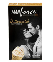 ItspleaZure Condom ManForce Extra Dotted Butter Scotch Flavoured Pack of 10 Condoms