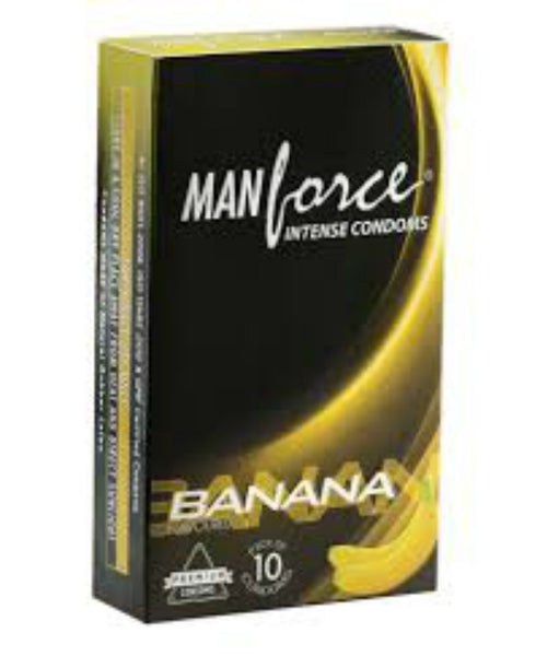 Buy ManForce Intensive Banana Flavoured Pack of 10 Condoms for  at itspleaZure