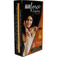 ItspleaZure Condom ManForce Stay Long Orange Flavoured pack Of 10 Condoms