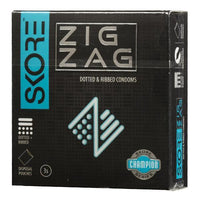 ItspleaZure Condom Skore Zig Zag Dotted & Ribbed Condoms Pack of 3
