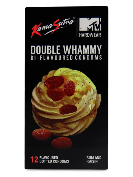 ItspleaZure Condoms Kaamastra Double Whammy Rum And Raisin Pack Of 12