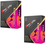 Buy Kamasutra Orgasmax 12s - 4 in 1 Condoms Pack of 3 for Rs. 49.00 at itspleaZure