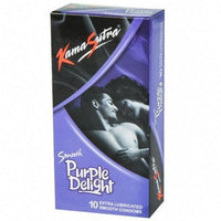 ItspleaZure Condoms KamaSutra Purple Delight Smooth Condoms - 10's Pack