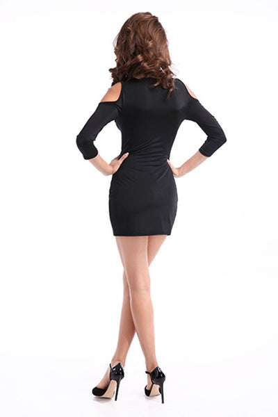 ItspleaZure Enticing Black Mini Dress for  at itspleaZure