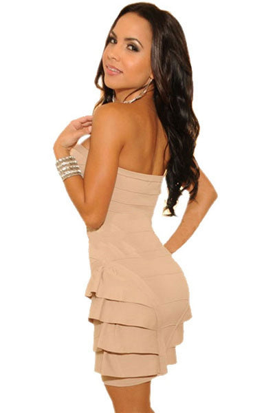 Buy ItspleaZure Funky Strapless Pink Dress for  at itspleaZure