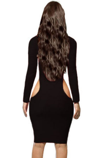 Buy ItspleaZure Hip Baring Black Dress for  at itspleaZure