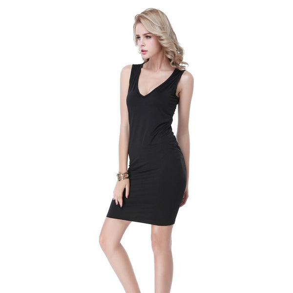 ItspleaZure One Piece Sexy Deep V-neck Bodycon Dress for  at itspleaZure