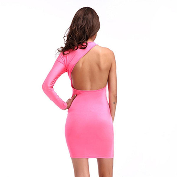 ItspleaZure One Sleeve Bold Bandage Dress - Pink for  at itspleaZure