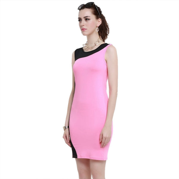 ItspleaZure Pink and Black Tight Dress for  at itspleaZure