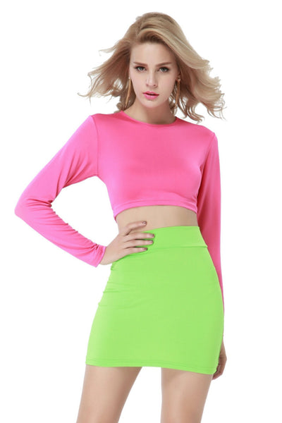 ItspleaZure Pink and Green Illusion Dress for  at itspleaZure