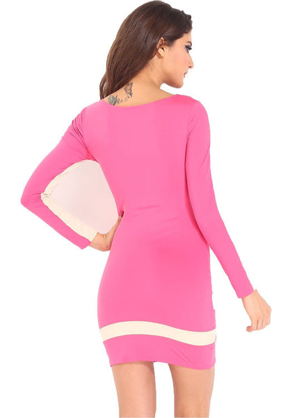 Buy ItspleaZure Pink Flattering Bodycon Dress for Rs. 899.00 at itspleaZure