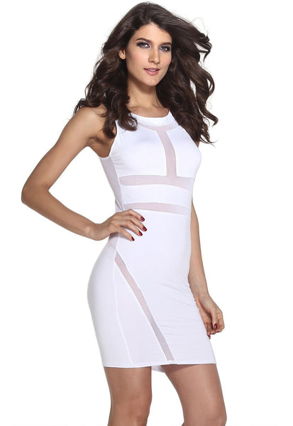 Buy ItspleaZure Sexy Mesh Bandage Illusion White Mini Dress for Rs. 999.00 at itspleaZure