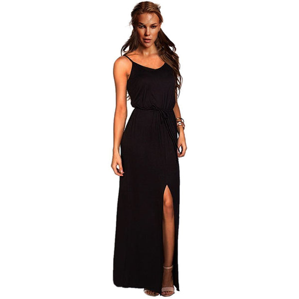 Buy ItspleaZure Sexy Sleeveless Spaghetti Strap Slit Summer Dress for  at itspleaZure