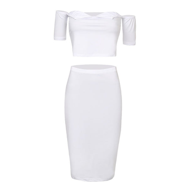 ItspleaZure Sexy Strapless Two Pcs Bodycon Dress for  at itspleaZure
