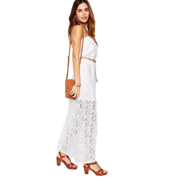 ItspleaZure Woman's Glamorous Bandeau Maxi Dress in Lace for  at itspleaZure