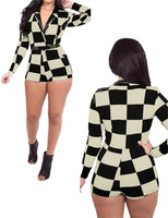 Buy ItspleaZure Checkered Hoodie Romper for  at itspleaZure