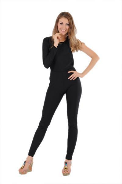 ItspleaZure One Sleeve Black Jumpsuit for  at itspleaZure