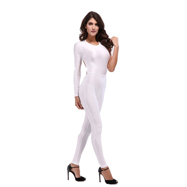 ItspleaZure One Sleeve White Jumpsuit for  at itspleaZure