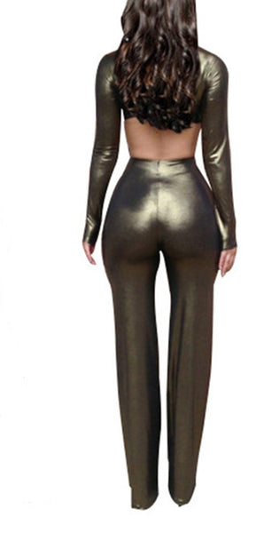 ItspleaZure Sexy Glossy Jumpsuit for  at itspleaZure