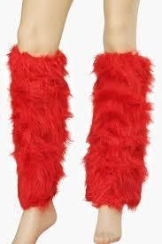 ItspleaZure Fluffy Red Leg Warmers for  at itspleaZure