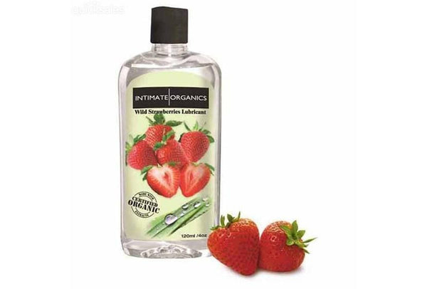 Intimate Organics Wild Strawberry Warming lube Lubricant - 120 ML for  at itspleaZure