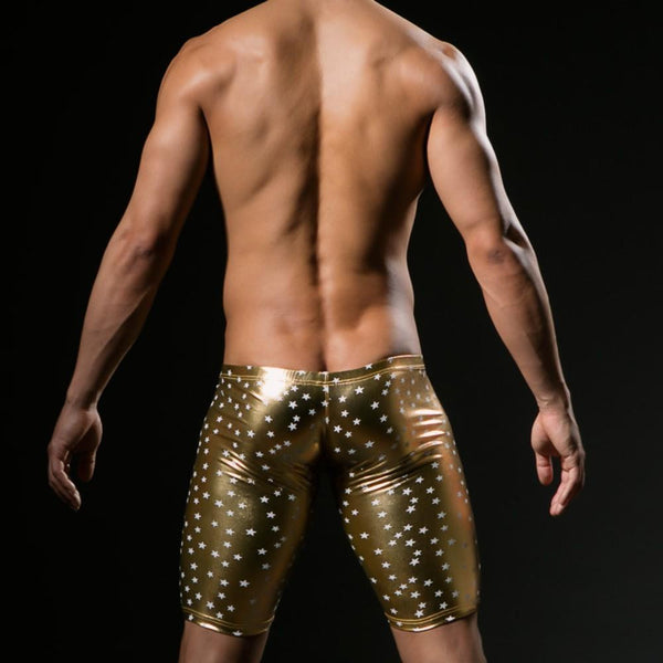 ItspleaZure Sexy Star Spangled Men's Shorts Golden for  at itspleaZure