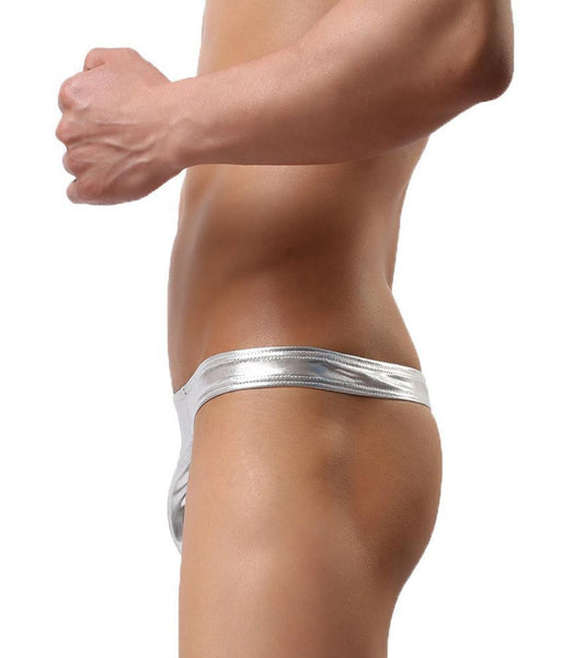 Buy ItspleaZure's Men's Wet Look Briefs Silver for  at itspleaZure