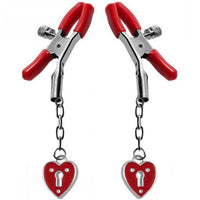 ItspleaZure Hearts and Locks Nipple Clamps for  at itspleaZure