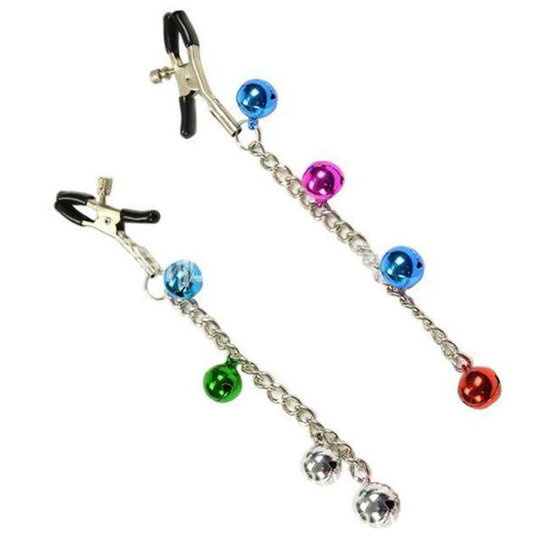 ItspleaZure Jeweled Chain Nipple Clamps for  at itspleaZure