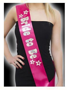 ItspleaZure Pink Bride to Be Sash with Silver Foil for  at itspleaZure