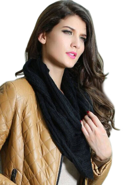 Buy ItspleaZure Warm Knitted Black Scarf- for  at itspleaZure