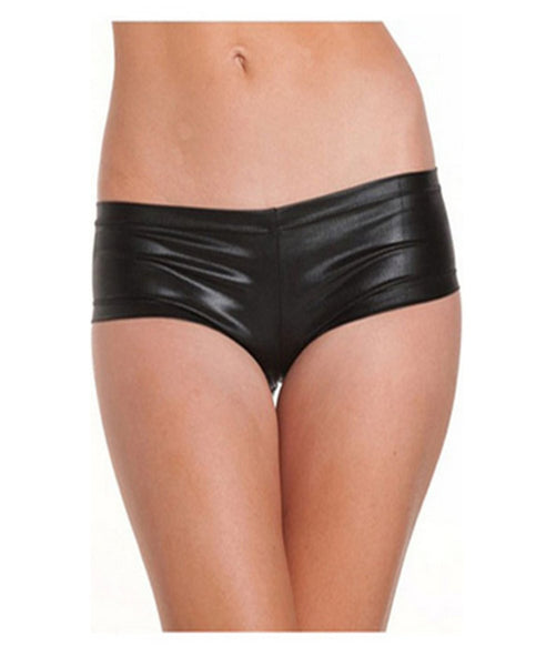 ItspleaZure Black Latex Hot Pants for  at itspleaZure