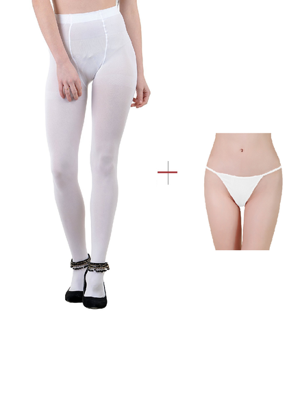 ItspleaZure Women's White Tights for  at itspleaZure