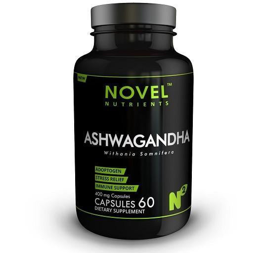 Buy Novel Nutrients Ashwagandha 60 Capsules- 400 mg for Rs. 349.00 at itspleaZure