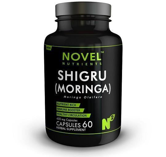 Buy Novel Nutrients Shigru (Moringa) 60 Capsules - 450 mg for Rs. 449.00 at itspleaZure