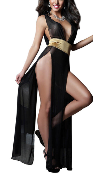 Buy ItspleaZure Sleepwear Gown and Belt - Gold for  at itspleaZure