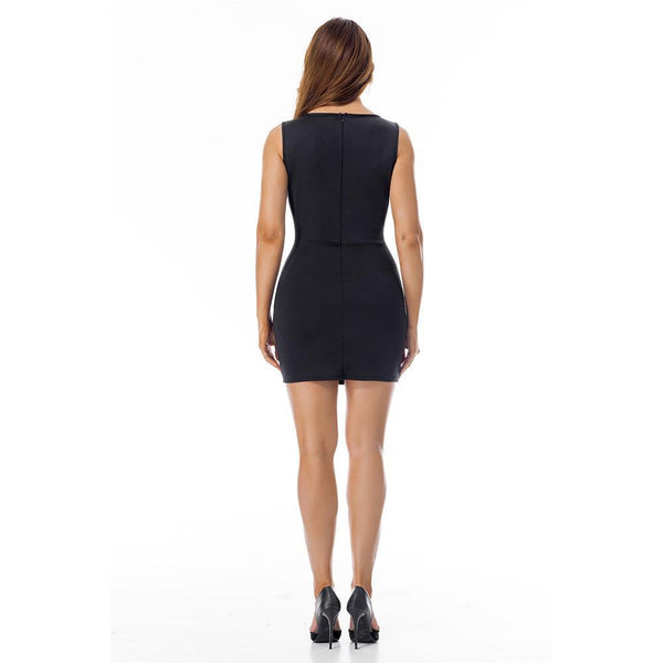 ItspleaZure Black sexy sleeveless bodycon party wear dresses for women