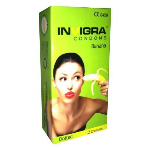 INVIGRA CONDOM BANANA 12'S PACKS for  at itspleaZure