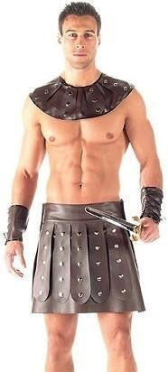 ItspleaZure 2 Piece Barbarian Gladiator Costume For Men for  at itspleaZure