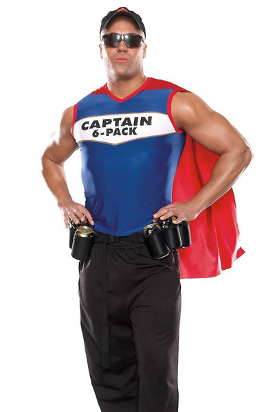 ItspleaZure 2 Piece Captain 6 Pack Mens Halloween Costumes for  at itspleaZure